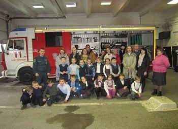 В гости к пожарным