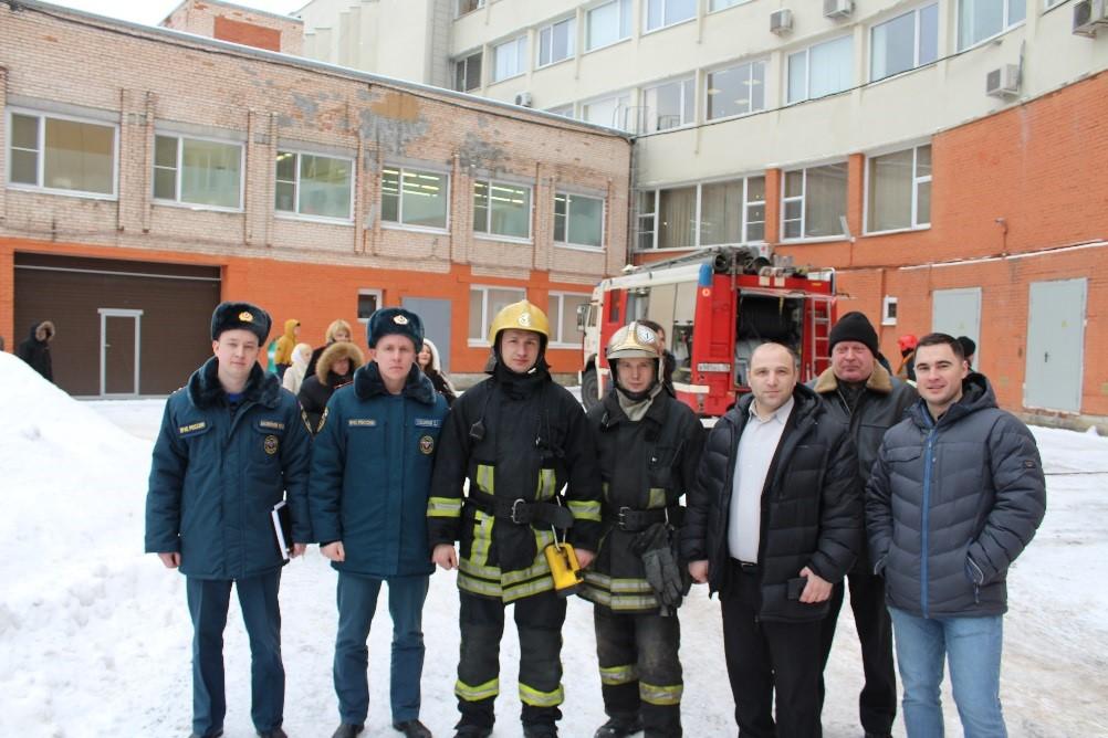 Эвакуация в здании ЦНИ РТК
