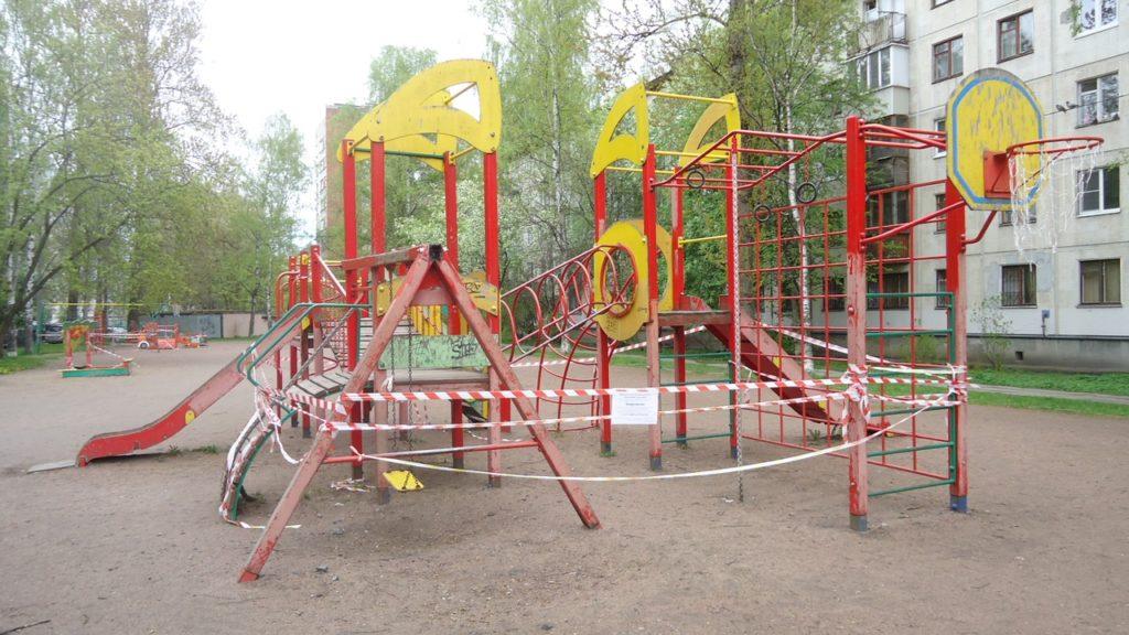 Начинаем ремонт детских площадок!