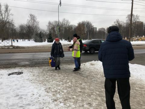 Акция «Юный пешеход в безопасный Новый Год!»