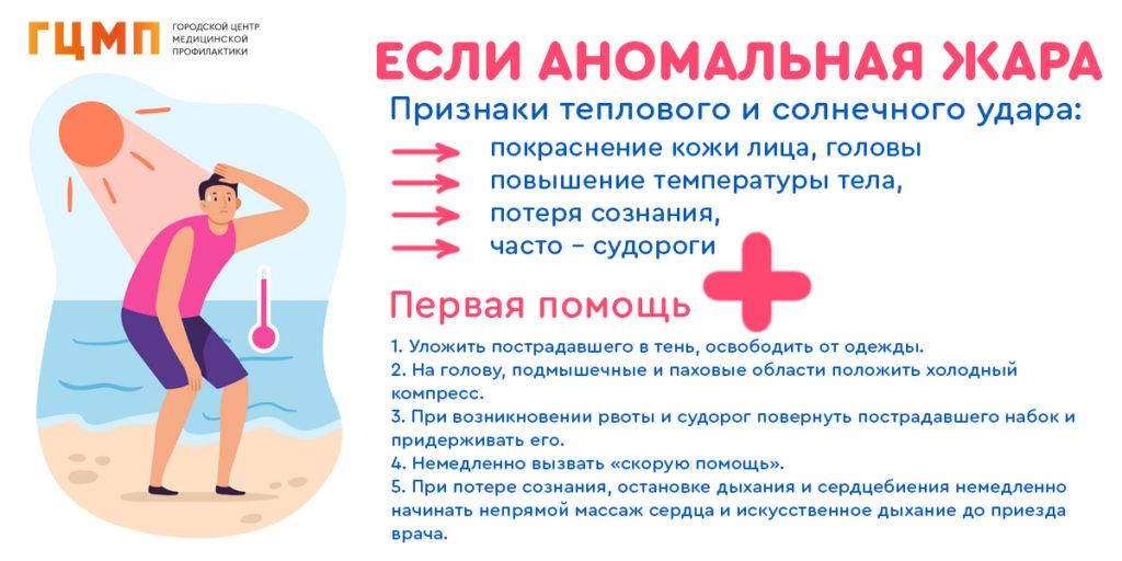 Первая помощь при аномальной жаре